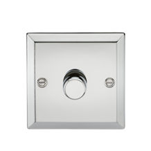 1G 2 Way 40-400W Dimmer - Bevelled Edge Polished Chrome