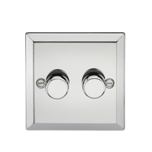 2G 2 Way 40-400W Dimmer - Bevelled Edge Polished Chrome