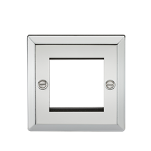 2G Modular Faceplate - Bevelled Edge Polished Chrome