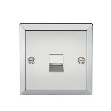 Telephone Extension Outlet - Bevelled Edge Polished Chrome