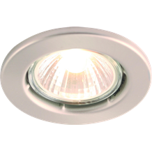 DGZ10CBR IP20 50W GU10 Brushed Chrome Recessed Fixed Downlight