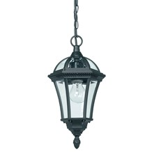 Drayton Matt Black Aluminium 1 Light Pendant IP44 Endon YG-3503
