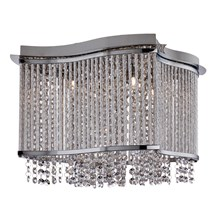 Elise Chrome 4 Light Fitting With Crystal Button Drops & Diamond Tubes