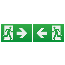 Running Man Legend (kit of 2) with Left/Right Facing Arrow for EMEXIT /EMLREC/EM