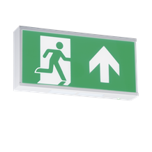 EMRUN 230V IP20 Wall Mounted LED Emergency Exit sign (maintained/non-maintained)