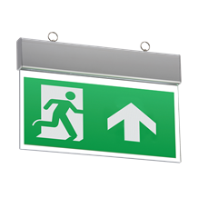 EMSWING 230V IP20 Ceiling Mounted LED Emergency Exit Sign (maintained/non-mainta