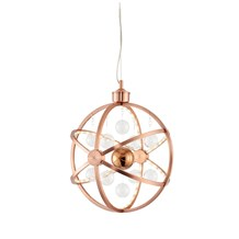 Muni Polished Copper LED 480mm Pendant 10W Endon MUNI-CO