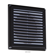 "150MM/6"" Extractor Fan Grille with Fly Screen - Black"