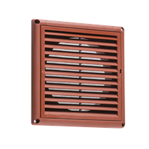 "150MM/6"" Extractor Fan Grille with Fly Screen - Terracotta"