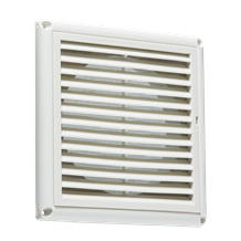"150MM/6"" Extractor Fan Grille with Fly Screen - White"