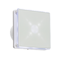 """EX003T 100MM/4"""" LED Backlit Extractor Fan with Overrun Timer - White"""