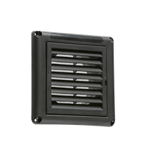 """100MM/4"""" Extractor Fan Grille with Fly Screen - Black"""