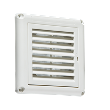 """100MM/4"""" Extractor Fan Grille with Fly Screen - White"""