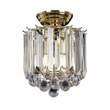 Fargo Polished Brass with Clear Acrylic Detailing 2 Light Flush Endon FARGO-BP