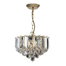 Fargo Polished Chrome Clear Acrylic Detailing 3 Light Small Pendant FARGO-12CH