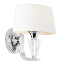 Fiennes Polished Chrome with White Shade 1 Light Wall Endon FIENNES-1WBNI
