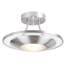 Firenz Satin Chrome Glass Diffuser Semi - Flush 120W Endon 387-30SC