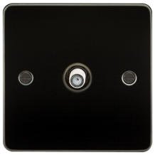 FP0150GM Flat Plate 1G SAT TV Outlet (non-isolated) - Gunmetal