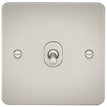 FP1TOGPL Flat Plate 10AX 1G 2 Way Toggle Switch - Pearl