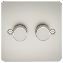 Flat Plate 2G 2 Way Dimmer 60-400W - Pearl