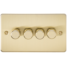 FP2164BB Flat Plate 4G 2 Way Dimmer 60-400W - Brushed Brass