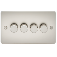 Flat Plate 4G 2 Way Dimmer 60-400W - Pearl