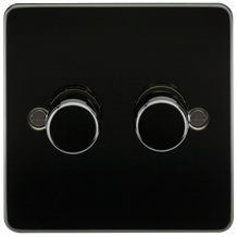 FLAT PLATE 2G 2 WAY 40-400W DIMMER - GUNMETAL