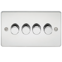 FLAT PLATE 4G 2 WAY 40-400W DIMMER - POLISHED CHROME