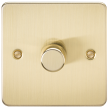 FP2181BB Flat Plate 1G 2 way 10-200W (5-150W LED) trailing edge dimmer - Brushed