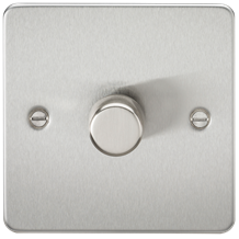 FP2181BC Flat Plate 1G 2 way 10-200W (5-150W LED) trailing edge dimmer - Brushed