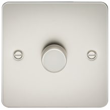 Flat Plate 1G 2 way 10-200W (5-150W LED) trailing edge dimmer - Pearl