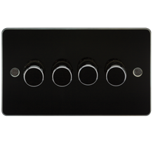 Flat Plate 4G 2 way 10-200W (5-150W LED) trailing edge dimmer - Gunmetal