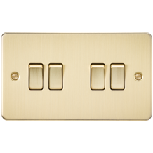 FP4100BB Flat Plate 10AX 4G 2-way switch - brushed brass