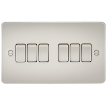 Flat Plate 10A 6G 2-way switch - pearl