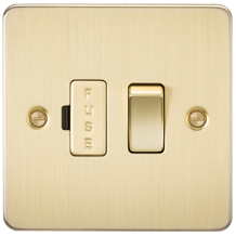 FP6300BB Flat Plate 13A switched fused spur unit - brushed brass