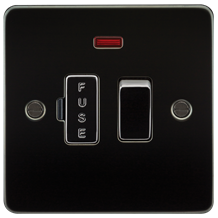 FP6300NGM Flat Plate 13A switched fused spur unit with neon - gunmetal