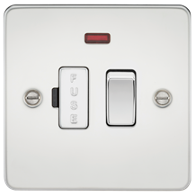 FP6300NPC Flat Plate 13A switched fused spur unit with neon - polished chrome