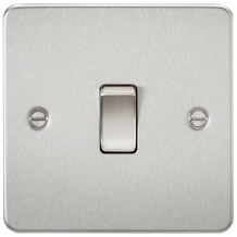 FP8341BC Flat Plate 20A 1G DP switch - brushed chrome