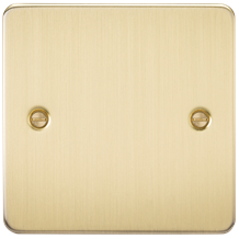 Flat Plate 1G blanking plate - brushed brass