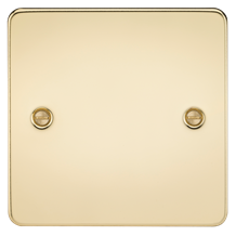 Flat Plate 1G blanking plate - polished brass