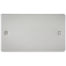 Flat Plate 2G blanking plate - brushed chrome