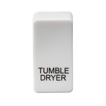"GDDRYU Switch cover ""marked TUMBLE DRYER"" - white"