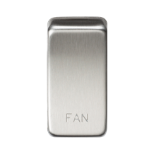 "GDFANBC Switch cover ""marked FAN"" - brushed chrome"