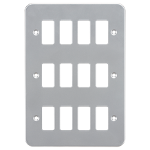 GDFP0012M Metalclad 12G grid faceplate