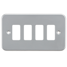 GDFP004M Metalclad 4G grid faceplate