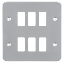 GDFP006M Metalclad 6G grid faceplate