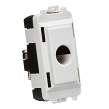 GDM012U Flex outlet module (up to 10mm) - white