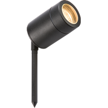 230V IP65 GU10 35W max. Powder-Coated Black Aluminium Spike Light with 3m Cable