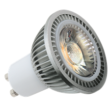 230V 5W GU10 COB LED 4000K Cool White 440 Lumens (dimmable)