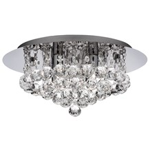 Hanna Chrome 4 Light Semi-flush With Clear Crystal Balls